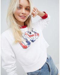 Hollister - Usa Logo Relaxed Sweatshirt - Lyst