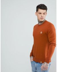 Pretty Green - Hinchcliffe Crew Neck Jumper In Orange - Lyst