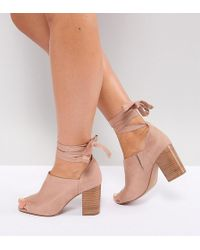 ASOS - Omen Wide Fit Tie Leg Heeled Shoes - Lyst
