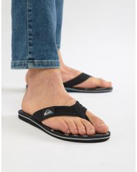 Quiksilver - Molokai Flip Flop In Black/blue/grey - Lyst