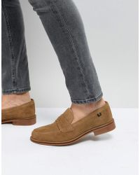 Farah - Chalice Suede Loafers - Lyst