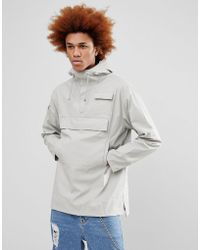 Rains - 1242 Camp Anorak In Stone - Lyst