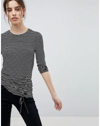 Esprit - Stripe Gathered Top - Lyst