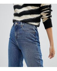 ASOS - Asos Design Petite Recycled Ritson Rigid Mom Jeans In Rich Stonewash Blue - Lyst