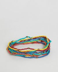 ASOS DESIGN - Beaded Bracelet Pack - Lyst