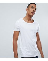833c3faed283 ASOS T-shirt With Bound Scoop Neck in Black for Men - Lyst
