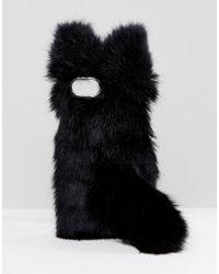 Monki - Multi Faux Fur Iphone Case - Lyst