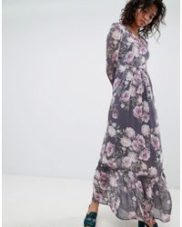 Ghost - Long Sleeve Printed Maxi Dress - Lyst