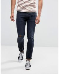 Lee jeans luke skinny clean black