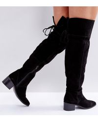 b9cb1a0a801 ASOS - Asos Kobra Wide Fit Suede Over The Knee Boots - Lyst