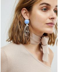 ASOS - Abstract Cut Out Stone Detail Earrings - Lyst
