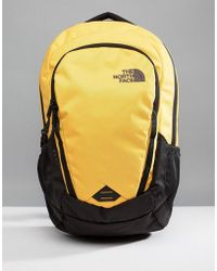 The North Face - Vault Backpack 28 Litres In Yellow/black - Lyst