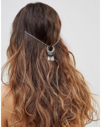 ASOS - Curved Shape And Metal Tassel Multirow Hair Chain - Lyst