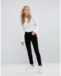 French Connection - Snow Leopard Flocked Skinny Jeans - Lyst
