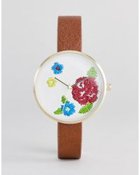 ASOS - Embroidered Face Watch - Lyst