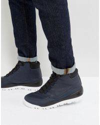 The North Face - Edgewood 7 Leather Walking Boot In Navy - Lyst