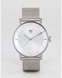 adidas - Z04 District Mesh Watch In Silver - Lyst