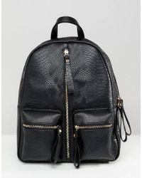Liquorish - Zip Front Backpack - Lyst