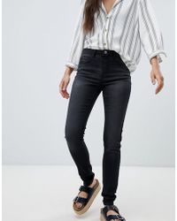Pieces - Five Betty High Waist Skinny Jeans - Lyst