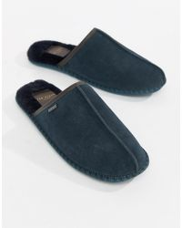 Ted Baker - Parick Mule Slippers In Navy Suede - Lyst