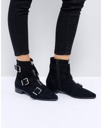 ASOS - Ayla Buckle Ankle Boots - Lyst