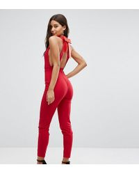 Vesper | Bow Back Fitted Jumpsuit | Lyst