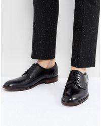 Steve Madden - Bozlee Leather Shoes In Black - Lyst