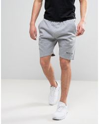Nicce London - Nicce Logo Shorts In Gray - Lyst