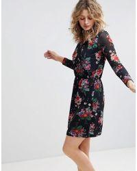 Ichi - Floral Wrap Dress - Lyst
