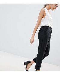 ASOS - Asos Design Petite Elasticated Clean Tapered Pant - Lyst