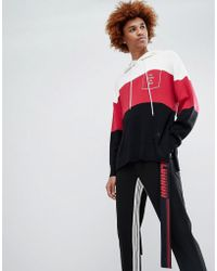 D-ANTIDOTE - Overszied Hoodie With Taping - Lyst