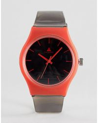ASOS - Design Minimal Rubberised Watch With Contrast Red Details - Lyst
