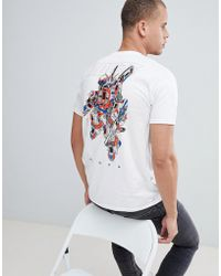 Abuze London - Abuze Ldn Tube Bot Back Print T-shirt - Lyst