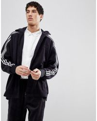 adidas Originals - Adicolor Velour Track Jacket In Oversized Fit In Black Cy3541 - Lyst