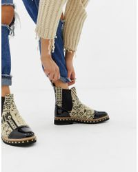 Free People - Atlas Textile Chelsea Boot - Lyst