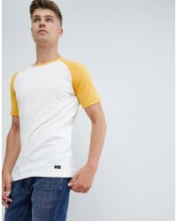 Produkt - T-shirt With Color Raglan Sleeve - Lyst