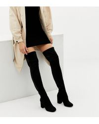 b2eee12fdc4 Lyst - ASOS Katcher Extra Wide Leg Over The Knee Boots In Wide Fit ...