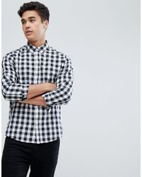 Solid - Shirt In Monochrome Gingham - Lyst