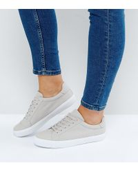 ASOS - Devlin Wide Fit Lace Up Sneakers - Lyst