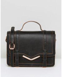 ASOS - Design V-bar Structured Satchel Bag - Lyst