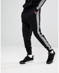 ASOS - Drop Crotch Jogger With Reflective Tape - Lyst