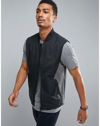 Perry Ellis - 360 Running Vest Bonded Thermal In Black - Lyst