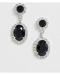 Krystal London - Swarovski Crystal Oval Surround Drop Earrrings - Lyst