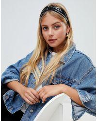 New Look - Stripe Elasticated Headband - Lyst