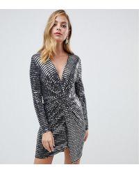 b0ac3dabe07 PrettyLittleThing Button Through Mini Dress With Sweetheart Neckline ...