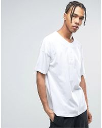 ASOS - Oversized T-shirt With Baseball Styling In White - Lyst