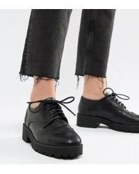 London Rebel - Chunky Lace Up Brogue - Lyst
