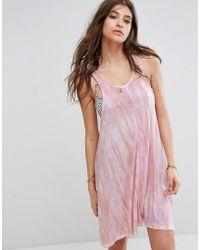 Billabong - Tie Dye Beach Dress - Lyst
