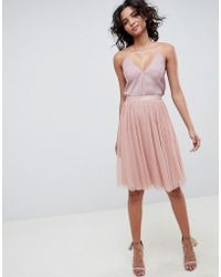 Needle & Thread - Tulle Skirt In Vintage Rose - Lyst