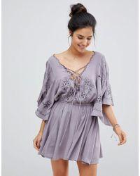 Surf Gypsy - Embroidered Beach Dress - Lyst